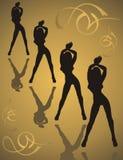 Ragazze di dancing fotografie stock libere da diritti