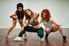 Ragazze di dancing hip-hop Immagine Stock Libera da Diritti