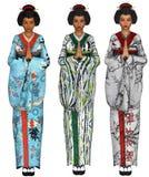 Ragazze di geisha Fotografia Stock