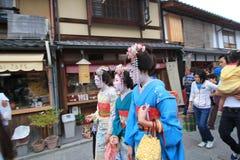 Ragazze di geisha Fotografie Stock Libere da Diritti