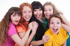 Ragazze di grido felici Fotografia Stock