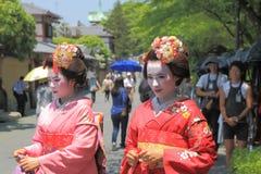 Ragazze di Japanese della geisha Fotografie Stock Libere da Diritti
