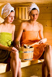 Ragazze di sauna Immagine Stock