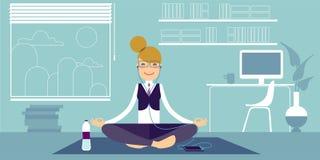 Ragazze di yoga illustrazione vettoriale