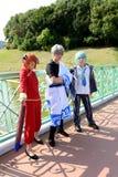 Ragazze giapponesi di cosplay del carattere di anime Fotografia Stock