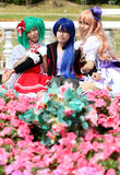Ragazze giapponesi di cosplay del carattere di anime Fotografia Stock Libera da Diritti