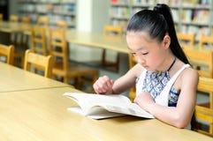 Ragazze graziose che studiano nella libreria Fotografie Stock Libere da Diritti