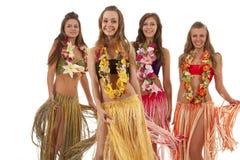 Ragazze hawaiane del danzatore di Hula Fotografie Stock