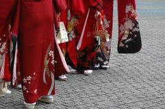 Ragazze in kimono Fotografia Stock Libera da Diritti