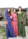 Ragazze medievali Fotografia Stock