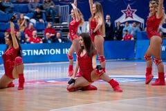 Ragazze pon pon del gruppo di CSKA Fotografie Stock