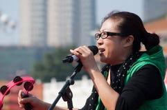 Ragazze pon pon sulla maratona 2011 di zhuhai Fotografia Stock Libera da Diritti