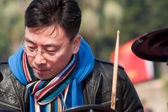 Ragazze pon pon sulla maratona 2011 di zhuhai Immagine Stock Libera da Diritti