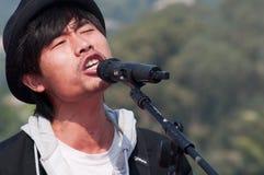 Ragazze pon pon sulla maratona 2011 di zhuhai Immagine Stock