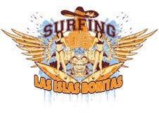 Ragazze praticanti il surfing Fotografia Stock Libera da Diritti