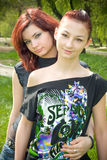 Ragazze Redheaded Fotografia Stock