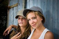 Ragazze rurali Fotografia Stock