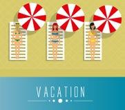Ragazze sulla vacanza Fotografia Stock