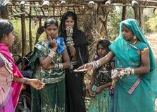 Ragazze tribali Fotografie Stock Libere da Diritti