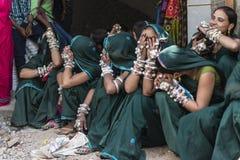 Ragazze tribali alla fiera Immagini Stock