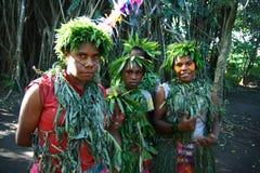 Ragazze tribali del villaggio del Vanuatu immagini stock