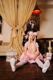 Ragazze vestite come bambole. Immagine Stock