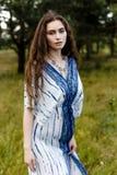 Ragazze in vestiti etnici Fotografia Stock Libera da Diritti