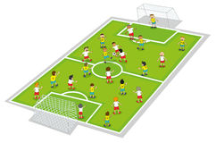 Ragazzi che giocano gioco del calcio Immagine Stock Libera da Diritti