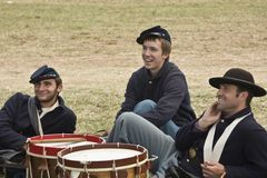 Ragazzi del batterista del sindacato Fotografie Stock Libere da Diritti