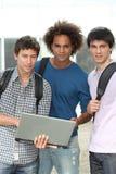 Ragazzi dell'allievo all'università Fotografia Stock Libera da Diritti
