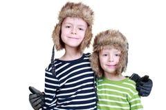 Ragazzi di inverno immagini stock libere da diritti