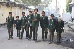 Ragazzi di scuola indiani Immagini Stock