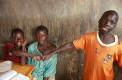 Ragazzi di scuola nell'Uganda Immagini Stock Libere da Diritti