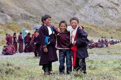 Ragazzi tibetani Fotografia Stock Libera da Diritti