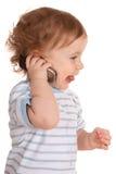 Ragazzino bello con il telefono Immagini Stock