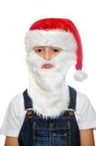 Ragazzino in cappello di rosso di Santa fotografia stock libera da diritti