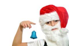 Ragazzino in cappello di rosso di Santa fotografie stock libere da diritti