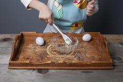 Ragazzino che gioca cuoco Fotografie Stock