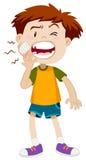 Ragazzino che ha mal di denti illustrazione vettoriale