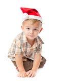 Ragazzino che porta un cappello della Santa Fotografie Stock Libere da Diritti