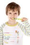 Ragazzino con il toothbrush immagini stock libere da diritti
