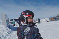 Ragazzino nelle alpi austriache Fotografia Stock Libera da Diritti