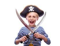 Ragazzino vestito come pirata Fotografia Stock Libera da Diritti