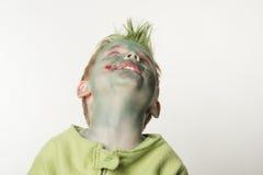 Ragazzino vestito come zombie su Halloween Immagine Stock Libera da Diritti