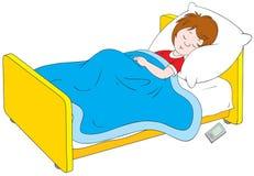 Ragazzo addormentato illustrazione di stock