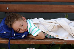 Ragazzo addormentato Fotografia Stock