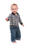 Ragazzo adorabile del bambino del bambino che si leva in piedi in su fotografie stock libere da diritti