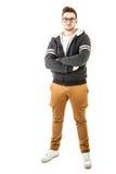 Ragazzo alla moda di maglia con cappuccio Immagine Stock Libera da Diritti