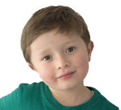 Ragazzo americano di 5 anni adorabile Fotografia Stock Libera da Diritti