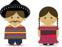 Ragazzo & ragazza messicani Illustrazione di Stock